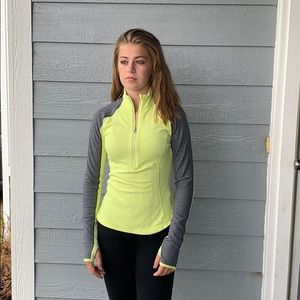 Lululemon pullover half zip size 4 yellow grey